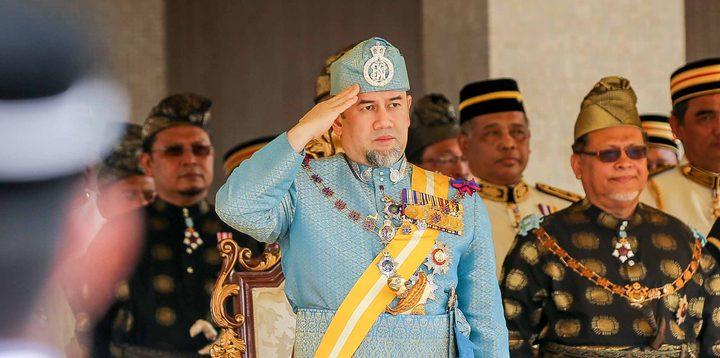 الرئيس يهنئ الملك محمد الخامس بتنصيبه ملكا لماليزيا