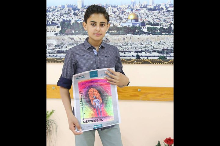 فلسطيني يفوز بالمركز الأول على الشرق الاوسط برسمته