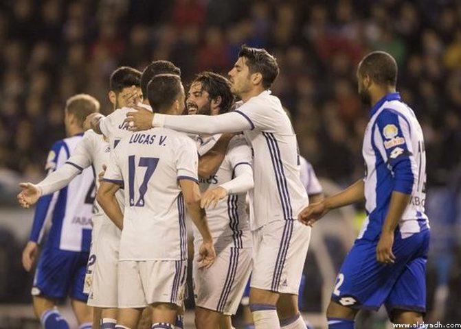 ريال مدريد يسحق ديبورتيفو  بالدوري الإسباني