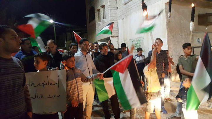 خيمة إعتصام تضامنًا مع الأسرى والأحتلال يحذر