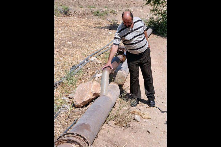 الاحتلال يدمر شبكة مياه بردلة