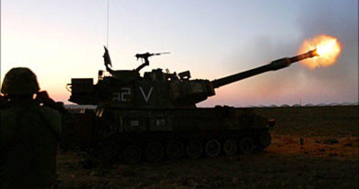 الاحتلال يقصف وسط القطاع بالمدفعية