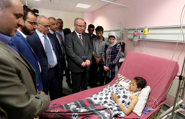 الحمد الله يزور الطفل وقاص ويطمئن على صحته