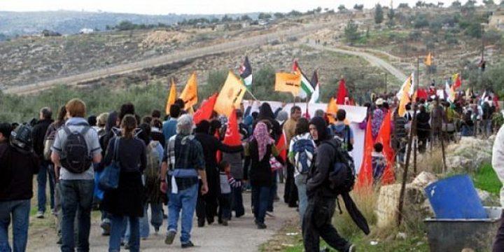 مسيرة نعلين الاسبوعية تؤكد دعمها لمطالب الاسرى