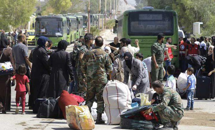 خروج دفعة جديدة من مهجري الوعر نحو إدلب