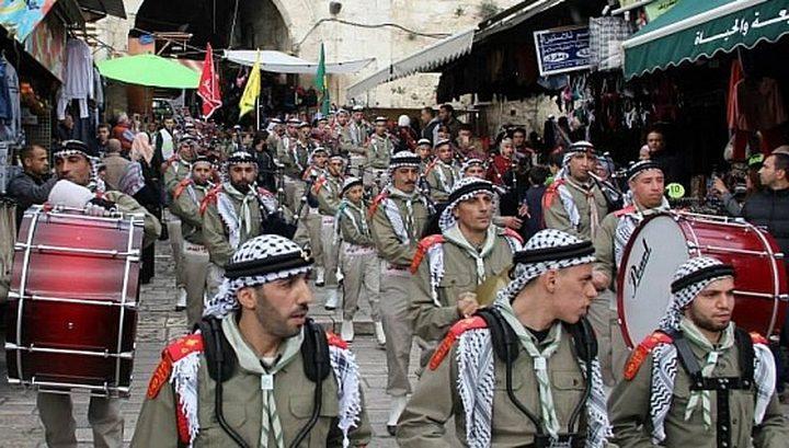 مسيرة كشفية في بيت لحم تضامنا مع الأسرى