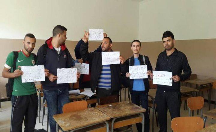 طلاب تونسيون يضربون عن الطعام تضامنا مع الأسرى