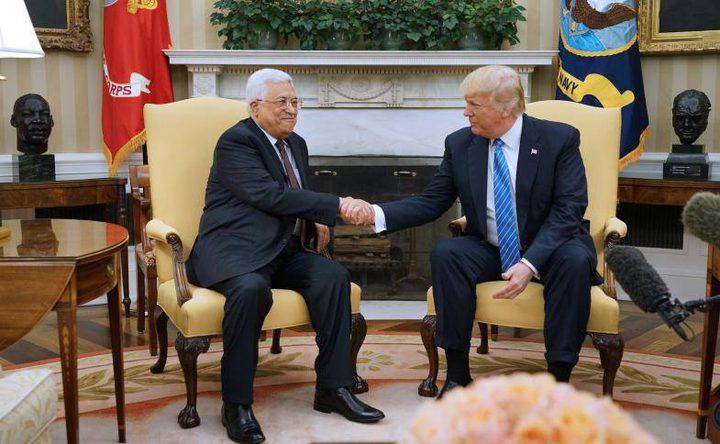 """المؤتمر """"التاريخي"""" بين الرئيس عباس وترامب"""