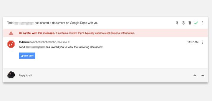 غوغل تحذر مستخدميها من فتح رابط docs