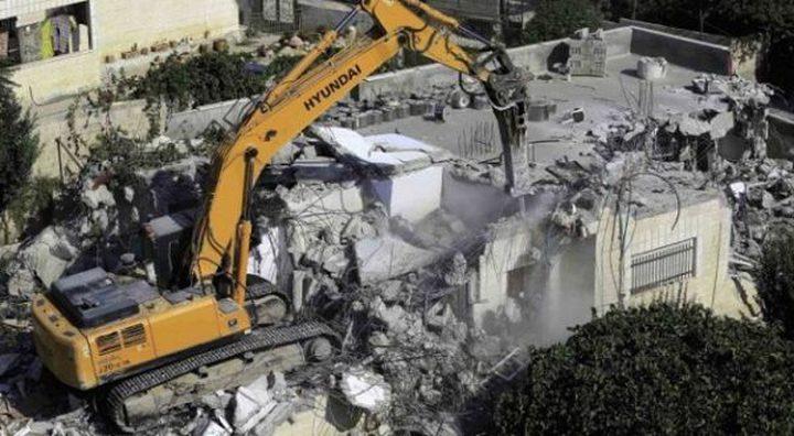 هدم منازل ومنشآت تجارية في القدس وبيت لحم