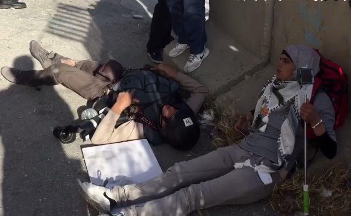 إصابات خلال قمع الاحتلال لمسيرة سلمية شمال بيت لحم (فيديو)
