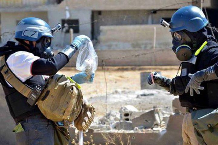فريق منظمة حظر الأسلحة الكيميائية يبدأ التحقيق في أحداث خان شيخون