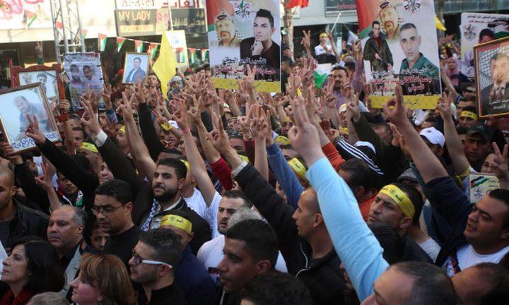 تضامن عربي مع الأسرى المضربين