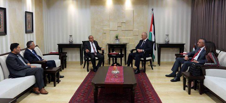 الحمد الله يبحث مع وزير العدل الأردني تعزيز التعاون