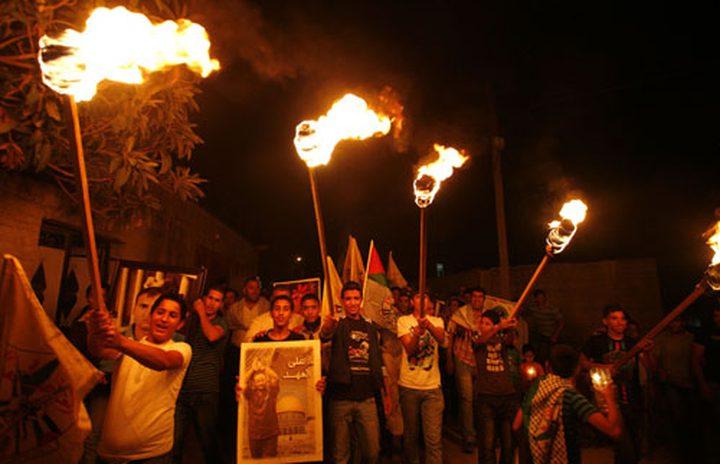 مسيرة مشاعل في بيت لحم تضامنا مع الأسرى