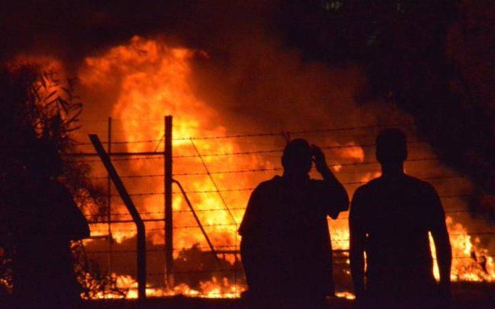 مجهولون يحرقون روضة برمانة والمحافظ يستنكر