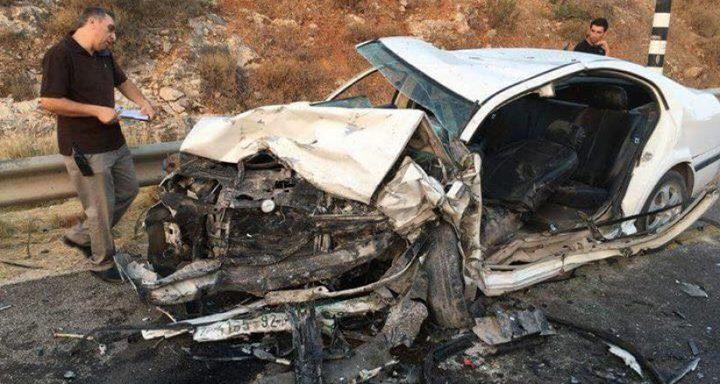إصابتان إحداها خطيرة في حادث سير في جنين(محدث)