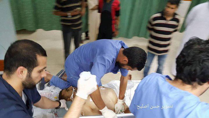 """استشهاد مواطن وإصابة سبعة في مواجهات على حدود غزة """"فيديو"""""""