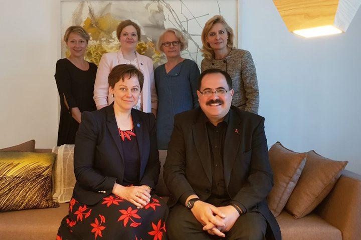 صيدم يشكر وزيره فنلندية على دعم بلادها لقطاع التعليم