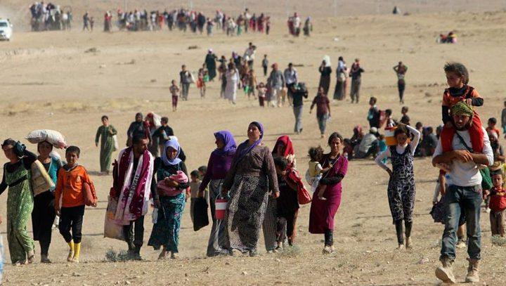 نزوح 8400 شخص من مدينة الموصل