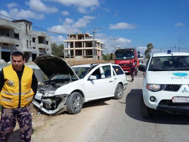 ثلاث اصابات في حادثين منفصلين غرب جنين