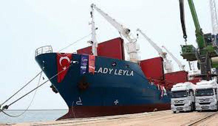 سفينة مساعدات تركية جديدة إلى غزة قبل عيد الفطر