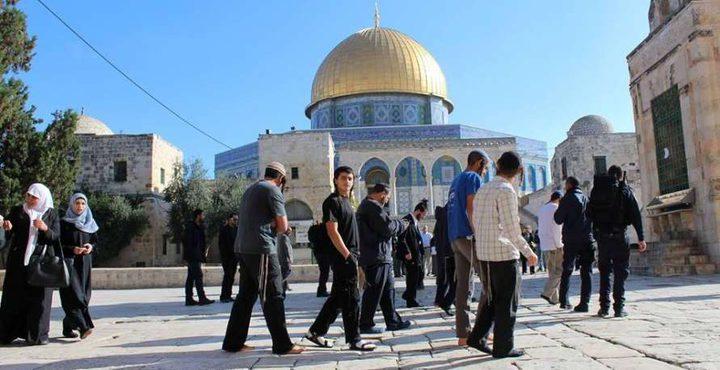 مستوطنون يقتحمون الأقصى بحماية من شرطة الاحتلال