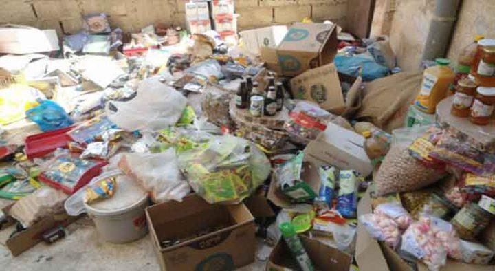 حماية المستهلك تتلف 34 طنا من المواد الغذائية المخالفة