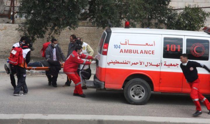 إصابتان جراء حادث سير في مخيم طولكرم