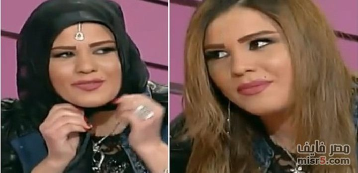 فتاة تخلع الحجاب على الهواء مباشرة وتهديه لرجل دين(فيديو)