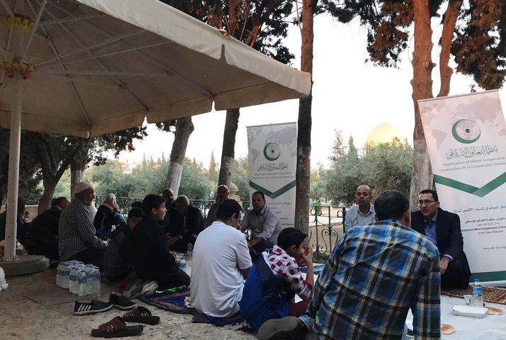 التعاون الإسلامي تنظم إفطاراً خيرياً بالمسجد الأقصى