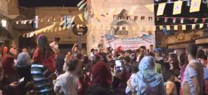 """بث مباشر لفعاليات """"السوق نازل"""" في مدينة نابلس"""