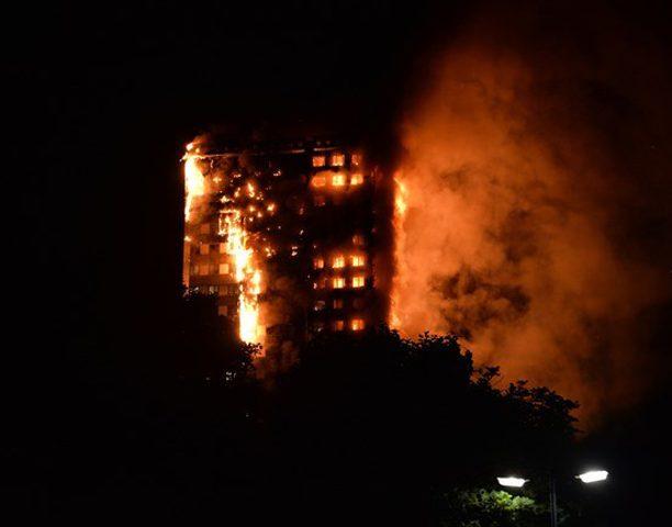إصابات بحريق ضخم في لندن