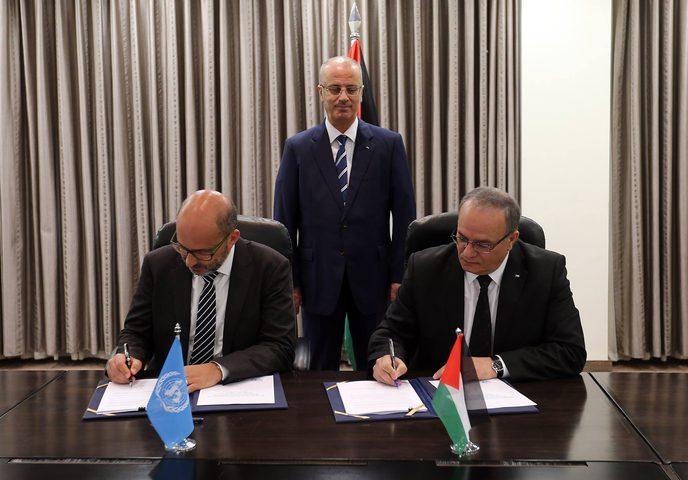 الحكومة توقع مع الأمم المتحدة الاستراتيجية الإنمائية للأعوام 2018-2022