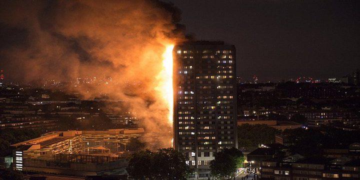 ارتفاع عدد قتلى حريق لندن