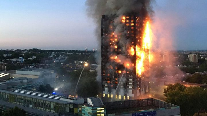 58 مفقوداً بحريق لندن بعداد القتلى