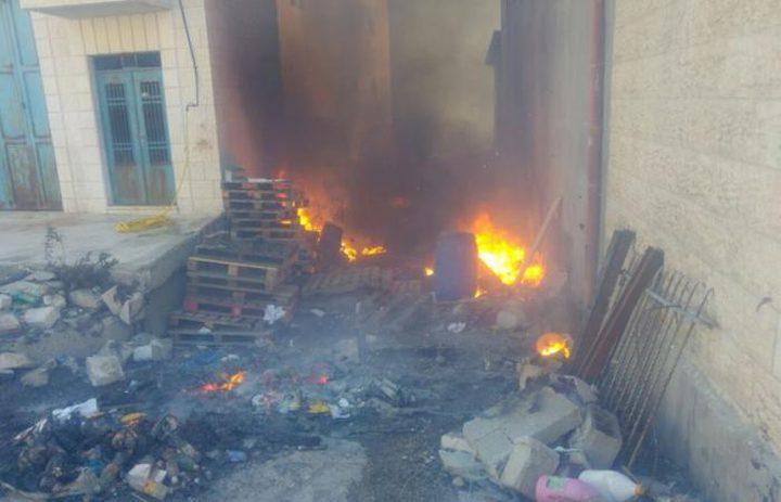 الدفاع المدني يسيطر على حريق شرقي القدس