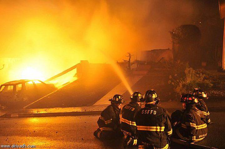 انفجار صاروخ في مصنع عسكري بتل ابيب