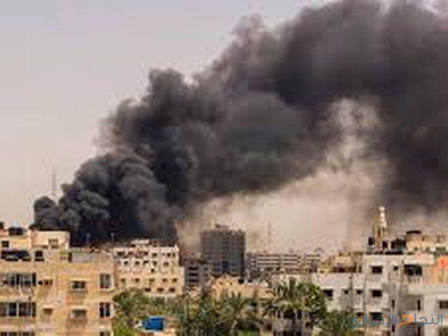 اندلاع حريق كبير وسط قطاع غزة