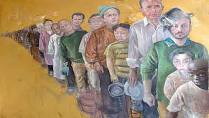 فنان يحول قادة العالم إلى لاجئين (صور)