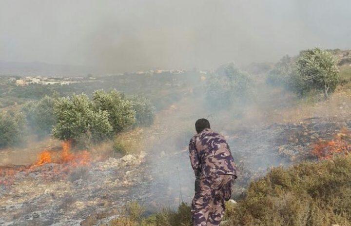 الدفاع المدني يخمد حريق بجنين