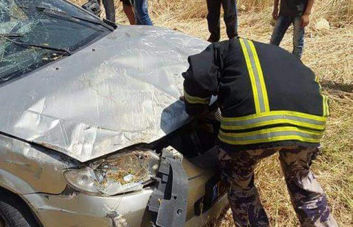 أربع إصابات طفيفة اثر حادث تصادم مركبتين