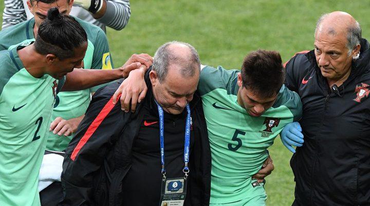 احتمال تعرض مدافع البرتغال لكسر في الساق