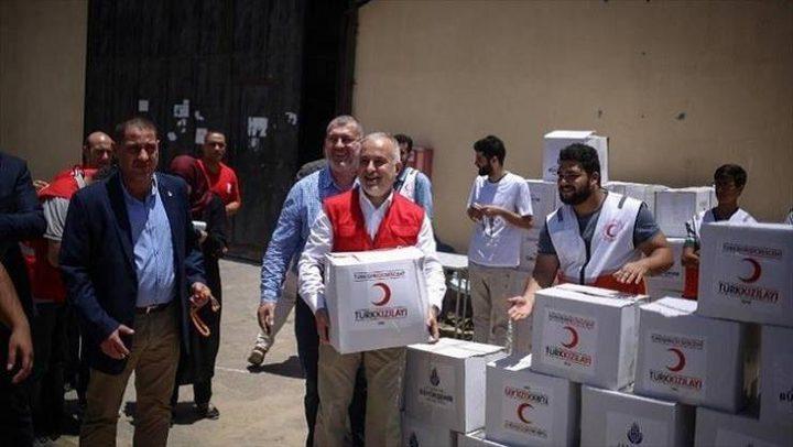شحنات المساعدات التركية تصل غزة