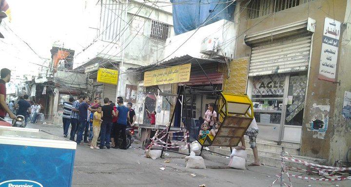 إصابة 7 فلسطينيين بانفجار قنبلة في مخيم عين الحلوة