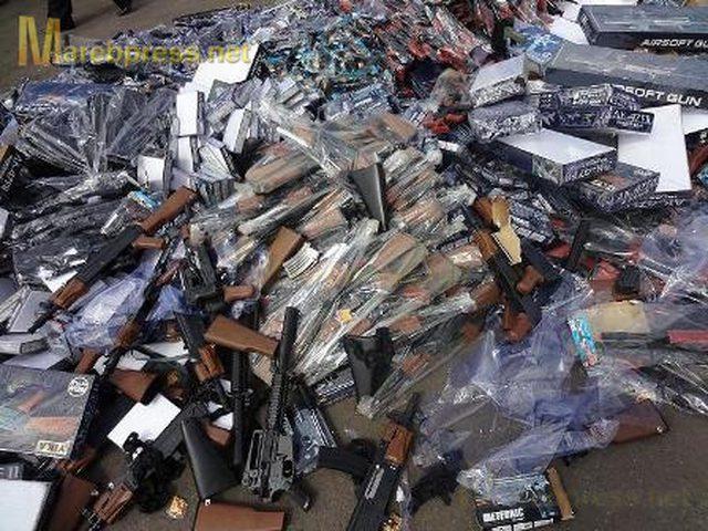 ضبط مسدسات بلاستيكية وخرز ممنوعة التداول في قلقيلية