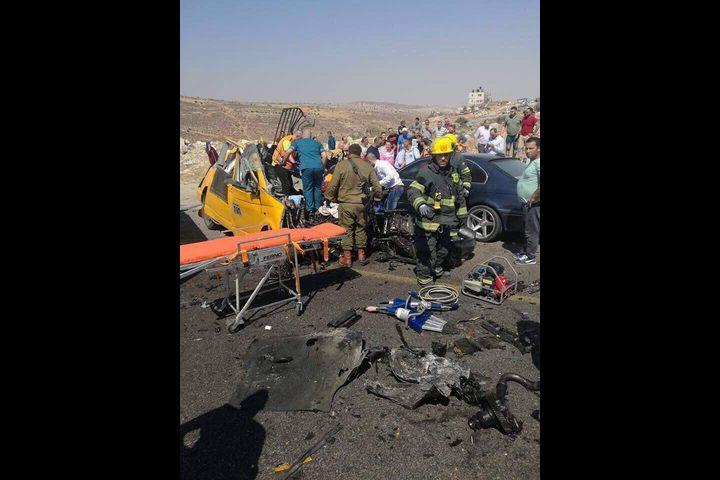 حادث سير يحصد ستة أرواح بالقرب من رام الله (صور،فيديو)