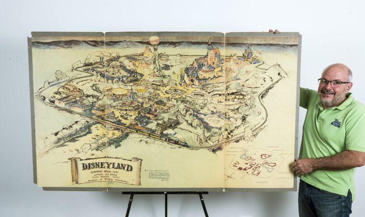 أول خريطة لمدينة ألعاب ديزني تباع ب708 آلاف دولار