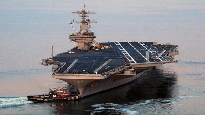 أضخم حاملة طائرات أمريكية تصل ميناء حيفا الأسبوع القادم