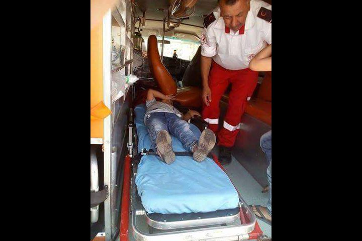 بالصور أربع إصابات بحادث جنوب نابلس